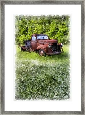 Out To Pasture Framed Print by Edward Fielding