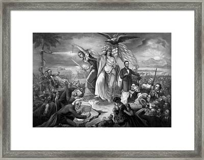 Outbreak Of Rebellion In The United States 1861 Framed Print by War Is Hell Store