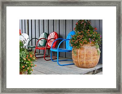 Outdoor Living Framed Print by Karon Melillo DeVega