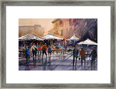 Outdoor Market - Rome Framed Print by Ryan Radke