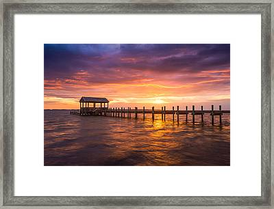 Outer Banks North Carolina Nags Head Sunset Nc Scenic Landscape Framed Print by Dave Allen