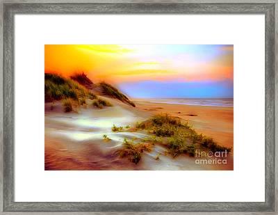 Outer Banks Soft Dune Sunrise Ap Framed Print by Dan Carmichael