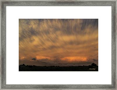 Outflow Boundary Framed Print by Karen Slagle