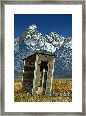 Outhouse Framed Print by Jean-Louis Klein & Marie-Luce Hubert