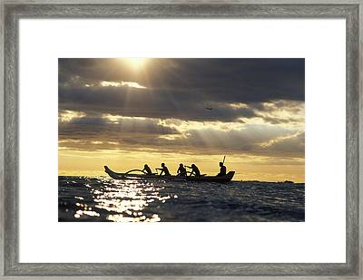 Outrigger Canoe Framed Print by Vince Cavataio - Printscapes