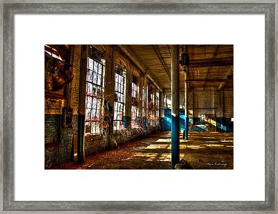 Outside Coming In The Vines Of Time Mary Leila Cotton Mill Greensboro Ga Framed Print by Reid Callaway