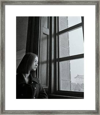 Outside Of The Window, Inside Of The Mind Framed Print by Hirokazu Tomimasu