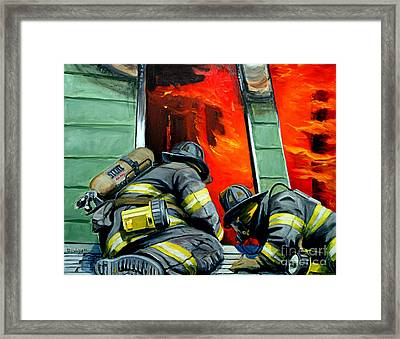 Outside Roof Framed Print by Paul Walsh