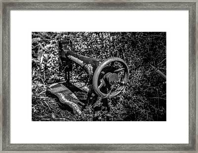Outside The Quilt Shop Framed Print by Randy Bayne