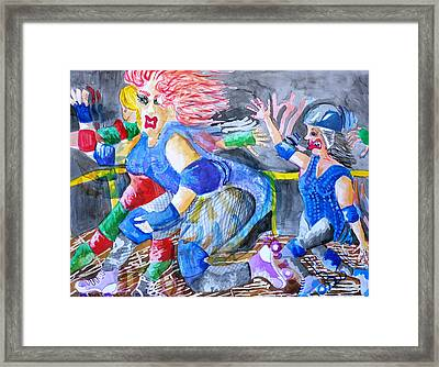 Outta The Way Framed Print by Jame Hayes