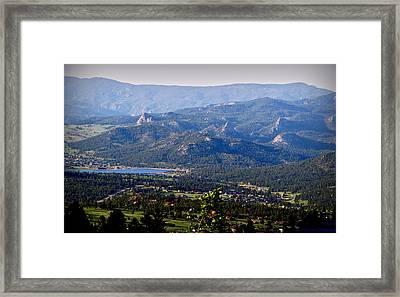 Over Estes Framed Print by Aaron Burrows