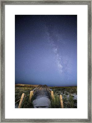 Over Orange Beach Framed Print by JC Findley