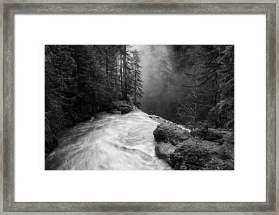Over The Falls Framed Print by James K. Papp