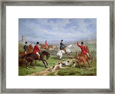 Over The Fence Framed Print by Edward Benjamin Herberte