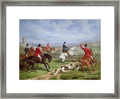 Over The Fence Framed Print by Edward Benjamin Herberte