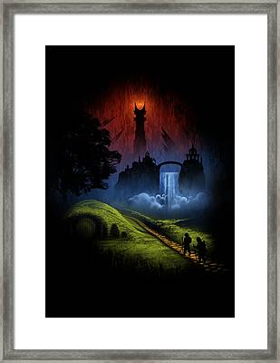 Over The Hill Framed Print by Alyn Spiller