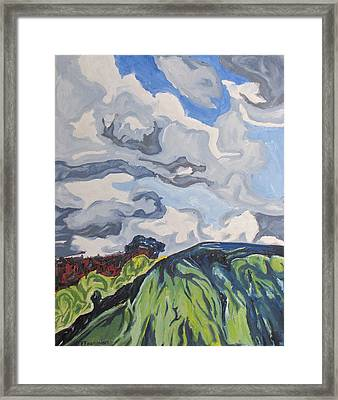 Over The Hill Framed Print by Francois Fournier