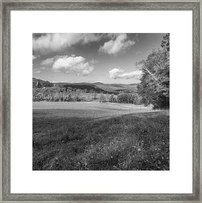 Over The Hills Square Bw Framed Print by Bill Wakeley