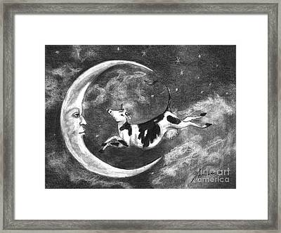 Over The Moon Framed Print by J Ferwerda