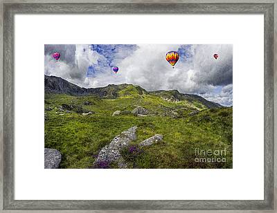 Over The Mountains Framed Print by Ian Mitchell