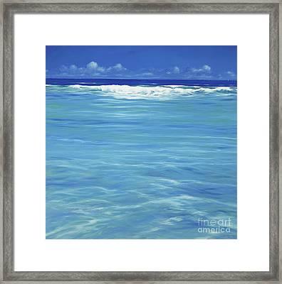 Over The Reef  Framed Print by Derek Hare