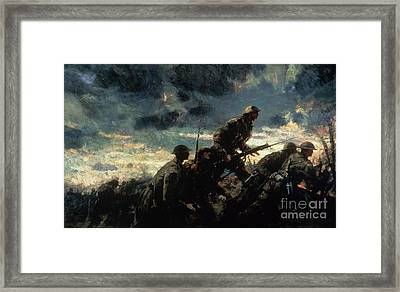 Over The Top Framed Print by Alfred Bastien