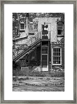 Over Under The Stairs - Bw Framed Print by Christopher Holmes