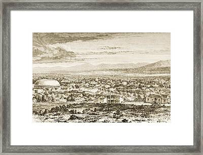 Overall View Salt Lake City, Utah, In Framed Print by Vintage Design Pics