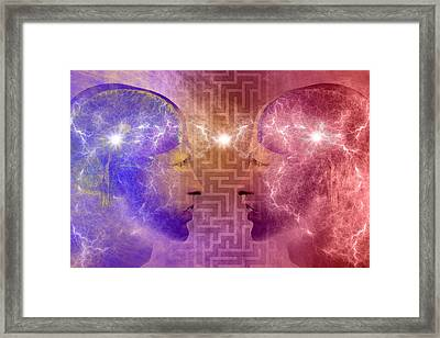 Overcoming Communication Barriers Framed Print by Carol and Mike Werner