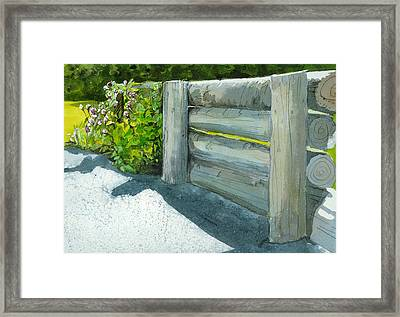 Overcoming The Wall Framed Print by Lynn Babineau