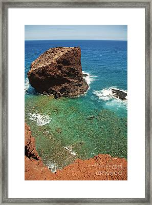 Overlooking Puu Pehe II Framed Print by Ron Dahlquist - Printscapes