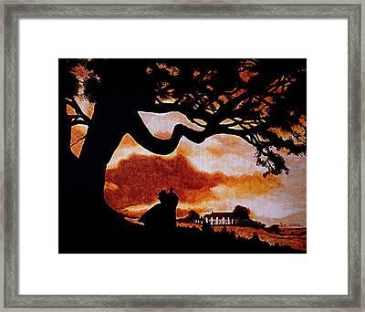 Overlooking Tara At Sunset Framed Print by Al  Molina