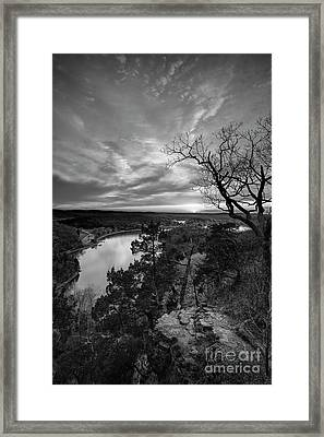 Overlooking The Bluff Framed Print by Dennis Hedberg