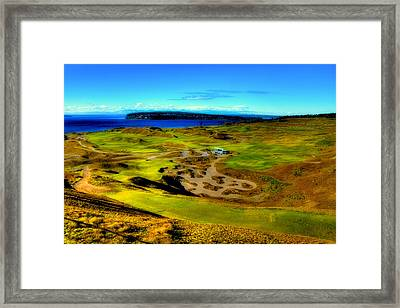Overlooking The Chambers Bay Golf Course Framed Print by David Patterson