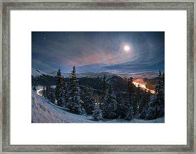 Overnight Bouquet Framed Print by Mike Berenson