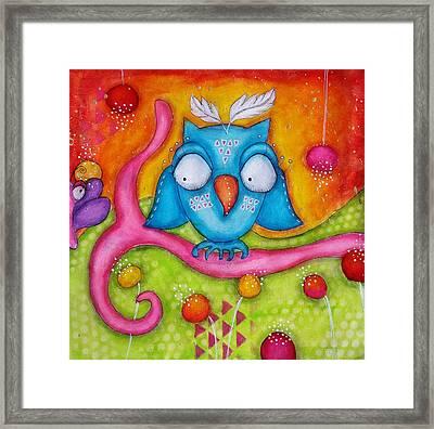 Owl-ala  Framed Print by Barbara Orenya