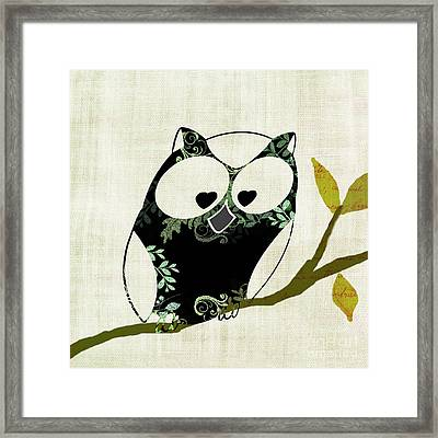 Owl Design - 23a Framed Print by Variance Collections