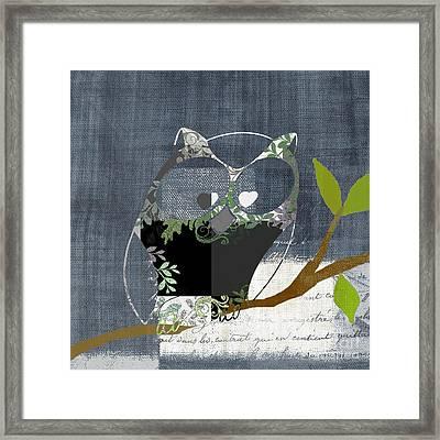 Owl Design - J140149146-v131b  Framed Print by Variance Collections