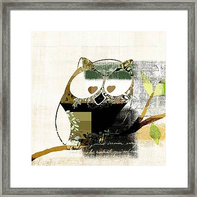 Owl Design - J164049167-v03 Framed Print by Variance Collections
