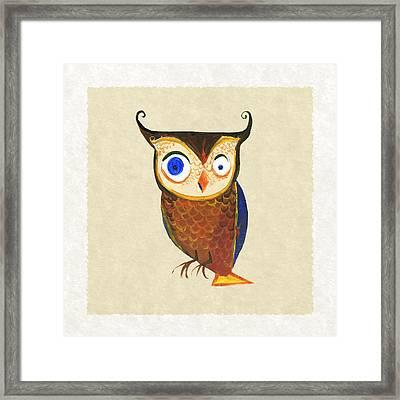 Owl Framed Print by Kristina Vardazaryan
