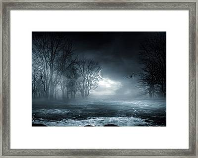 Owl Of Minerva Framed Print by Lourry Legarde