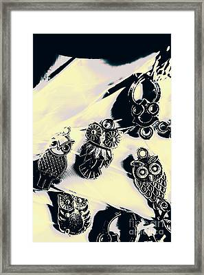 Owls From Blue Yonder Framed Print by Jorgo Photography - Wall Art Gallery