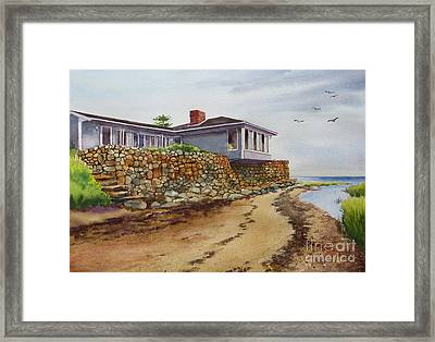 Riverhouse Framed Print by Karol Wyckoff