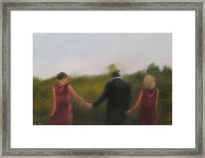 Owner Of The Green Hat Framed Print by Weiyu Xia