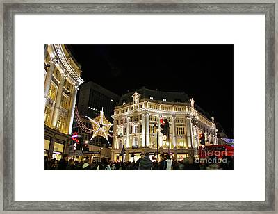 Oxford Circus London Framed Print by Terri Waters