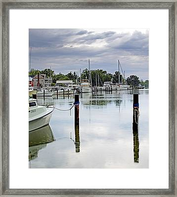 Oxford City Dock Eastern Shore Of Maryland Framed Print by Brendan Reals