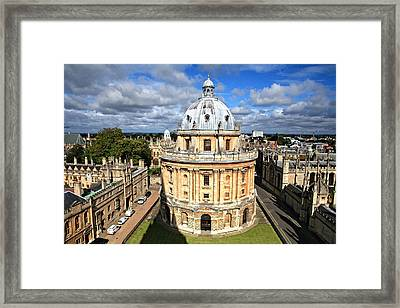 Oxford Library And Spires Framed Print by Paul Cowan