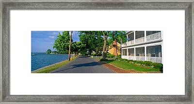 Oxford To Bellevue Ferry, Maryland Framed Print by Panoramic Images