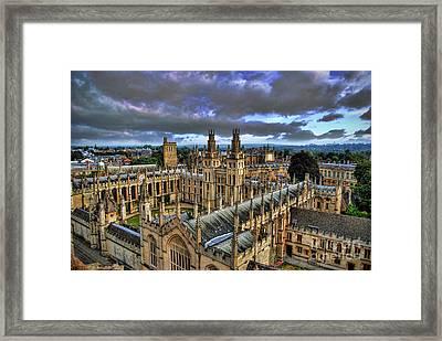 Oxford University - All Souls College Framed Print by Yhun Suarez