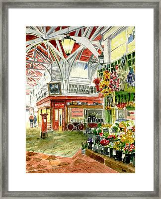 Oxford's Covered Market Framed Print by Mike Lester